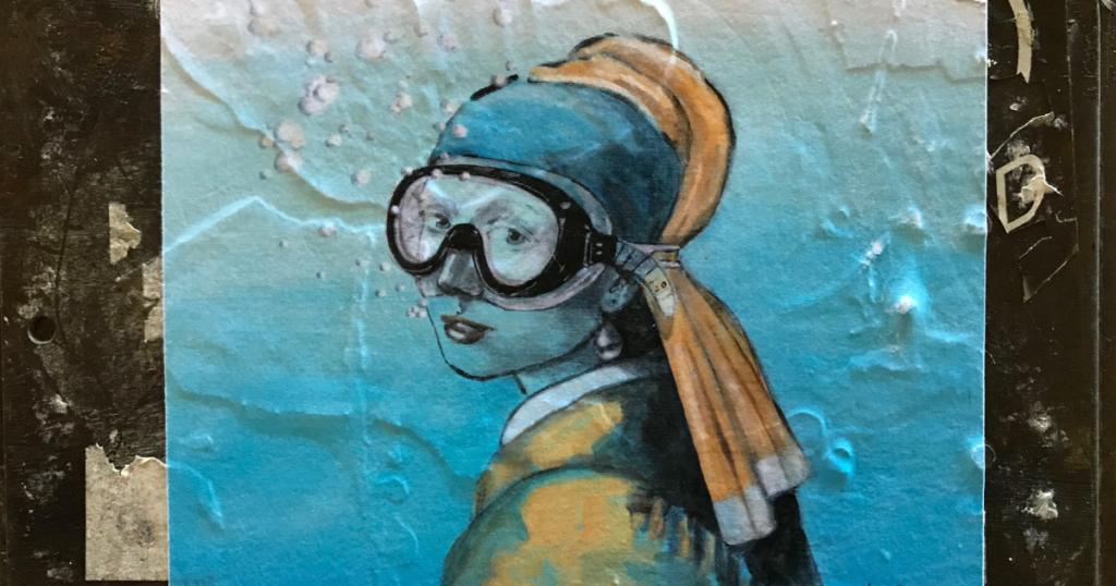 L'arte con la maschera da sub al MANN