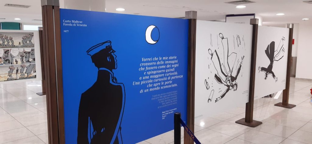 Corto Maltese in mostra all'aeroporto di Capodichino