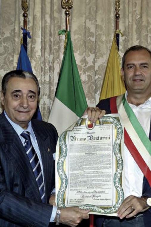 A Bruno Venturini la cittadinanza onoraria di Napoli