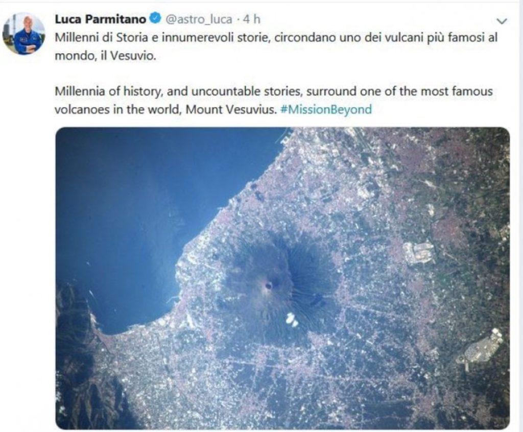 Il Vesuvio fotografato da Luca Parmitano