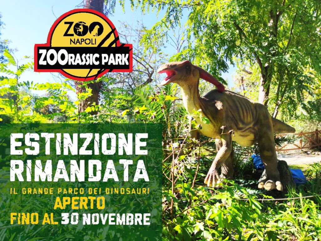 """Continua fino al 30 novembre 2020 """"Zoorassic Park!"""" allo Zoo di Napoli"""