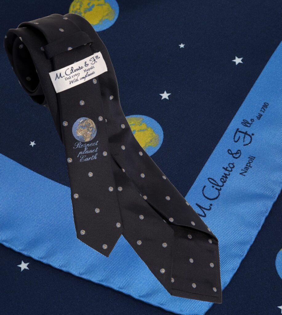Giornata mondiale della Terra; Maison Cilento lancia una collezione di cravatte dedicata ai pianeti