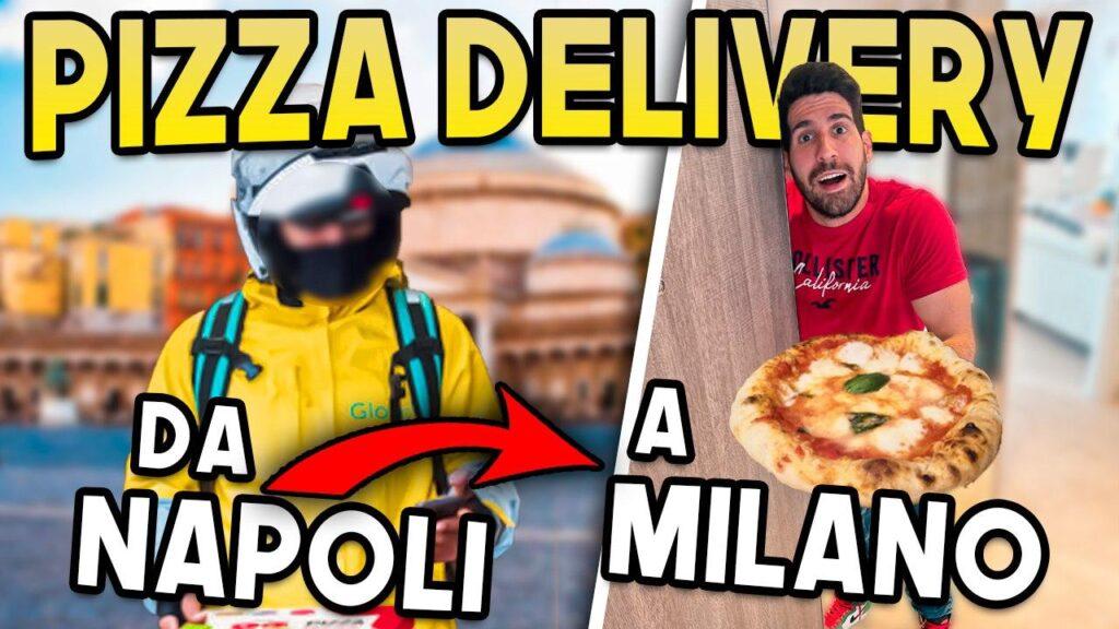 Da Napoli a Milano per consegnare due pizze: il video è virale