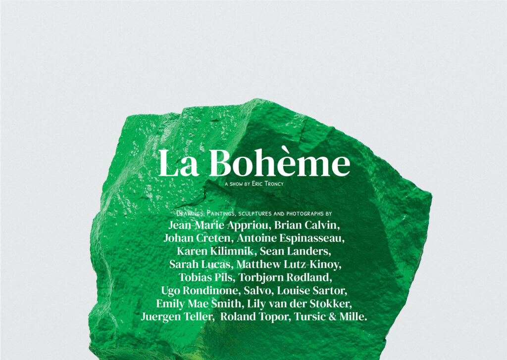 La Bohème curata da Eric Troncy alla Galleria Alfonso Artiaco