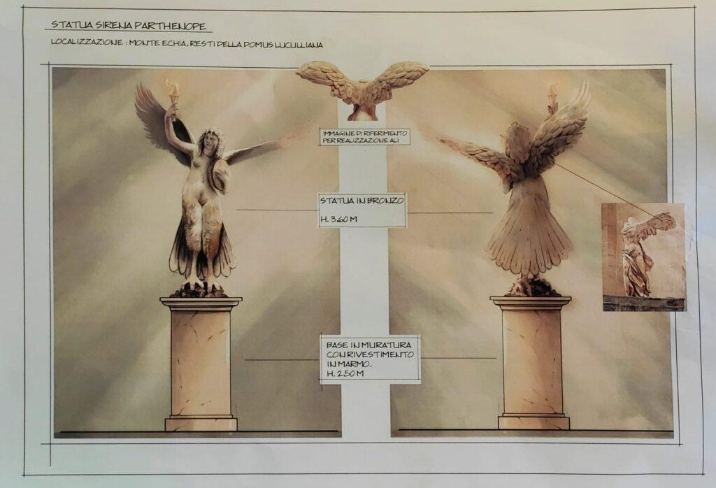 Una sirena sul monte Echia: la suggestiva idea di una statua di Partenope alta sei metri